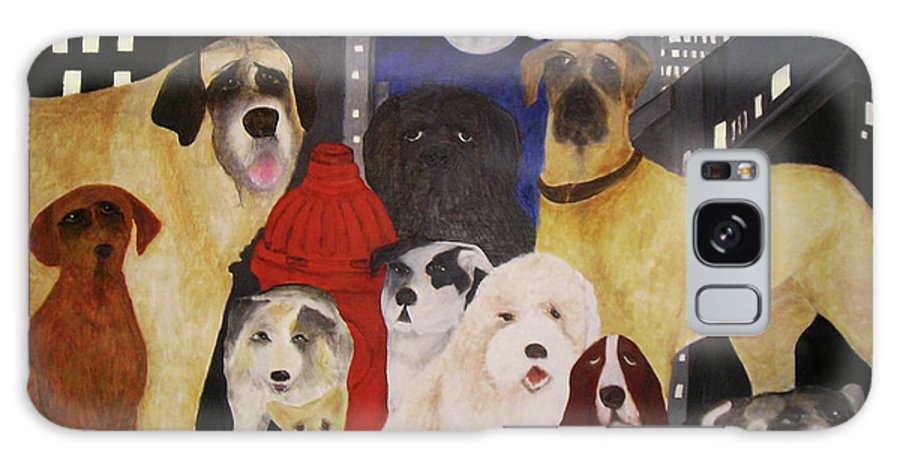 Dogs Galaxy S8 Case featuring the painting Boys Night Out by Larry Rice