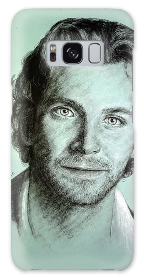Bradley Cooper Galaxy S8 Case featuring the painting Bradley Cooper Charcoal Portrait by Richelle Siska