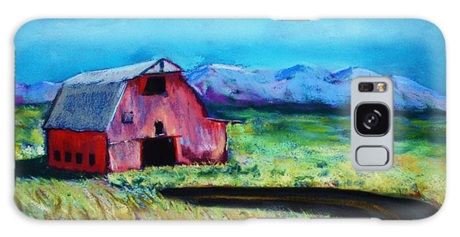 Barn Galaxy Case featuring the pastel Bradley's Barn by Melinda Etzold
