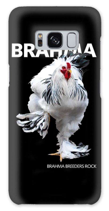 Brahma Galaxy S8 Case featuring the digital art Brahma Breeders Rock T-shirt Print by Sigrid Van Dort
