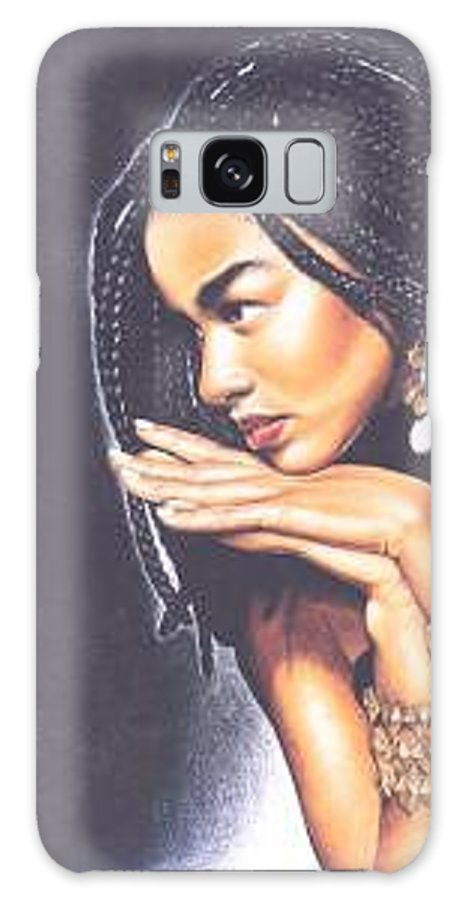 Woman W/folded Hands Galaxy Case featuring the drawing Braided Beauty by Charlene Cooper
