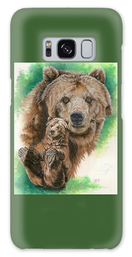 Bear Galaxy Case featuring the mixed media Brawny by Barbara Keith