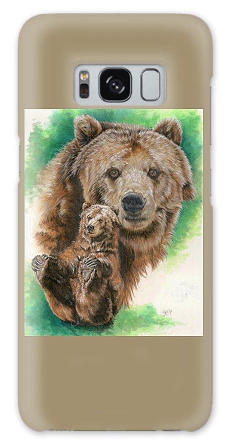 Bear Galaxy S8 Case featuring the mixed media Brawny by Barbara Keith