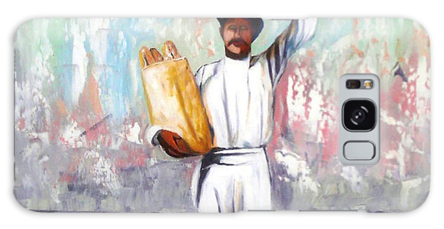 Bread Galaxy Case featuring the painting Breadman by Jose Manuel Abraham