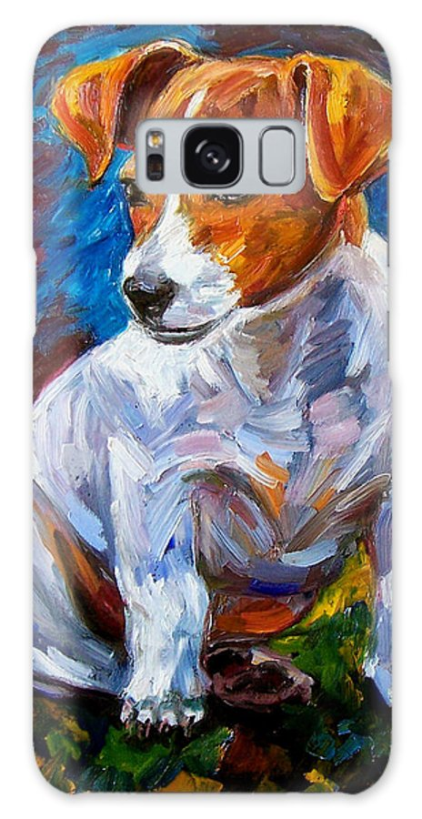 Dog Art Galaxy S8 Case featuring the painting Break Time by Debra Hurd