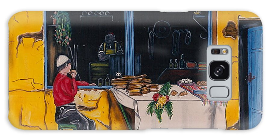 Capri Galaxy Case featuring the painting Breakfast In Capri by V Boge