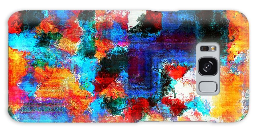 Abstract Galaxy S8 Case featuring the painting Breaking The Rules by RC DeWinter