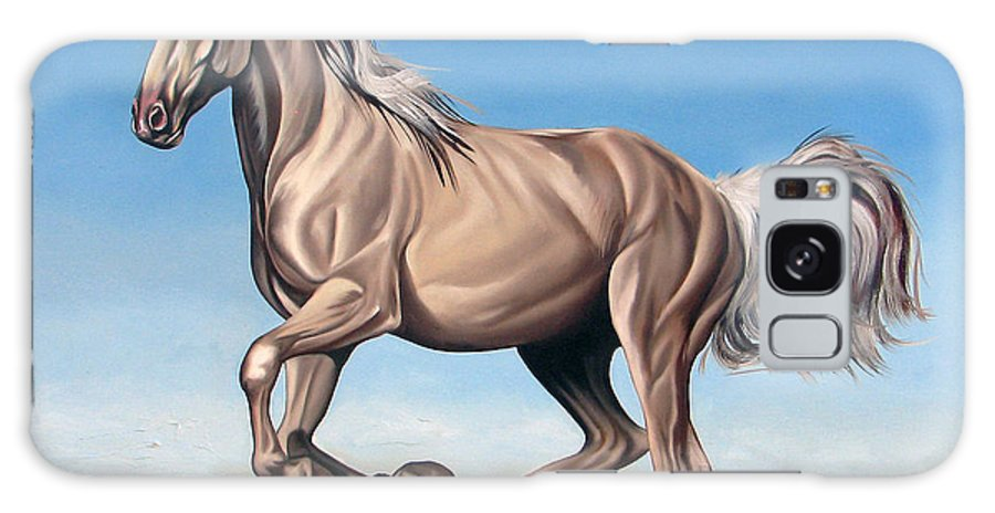 Horse Galaxy S8 Case featuring the painting Breeze by Ilse Kleyn