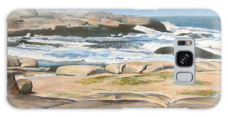 Paysage Galaxy S8 Case featuring the painting Bretagne 2 by Muriel Dolemieux