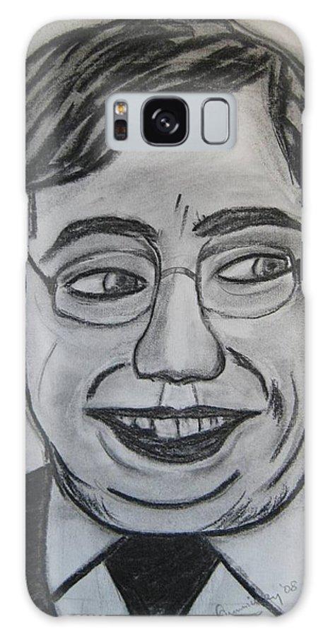 Art Artroger Roger Cummiskey Charcoal Galaxy Case featuring the painting Brian Cowan by Roger Cummiskey
