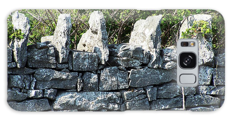 Irish Galaxy Case featuring the photograph Briars And Stones New Quay Ireland County Clare by Teresa Mucha