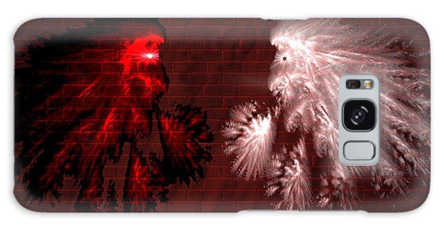 War Galaxy S8 Case featuring the digital art Brick Graffiti by Evelyn Patrick