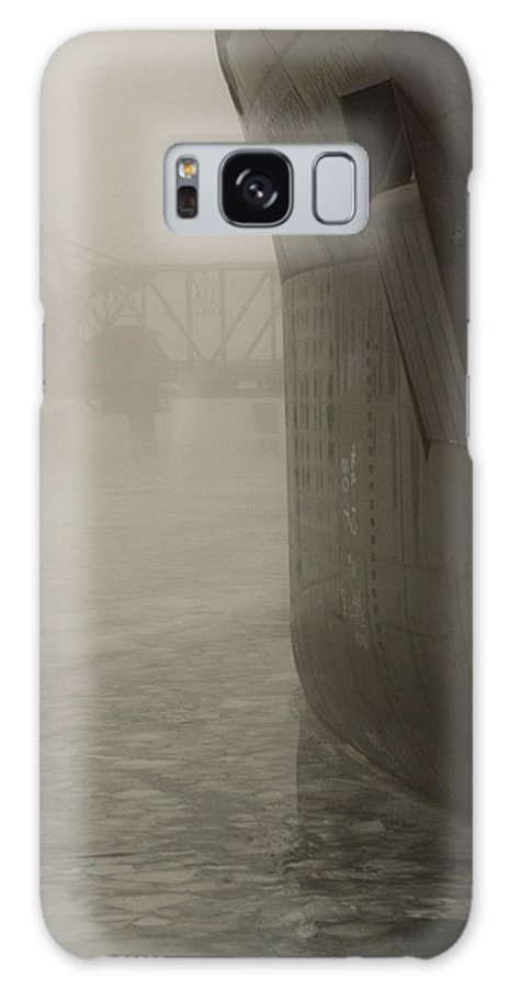 Water Galaxy S8 Case featuring the photograph Bridge And Barge by Tim Nyberg