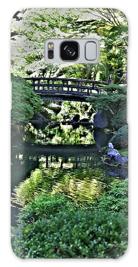 Japanese Garden Galaxy S8 Case featuring the photograph Bridge Over Tranquil Waters by David Bearden