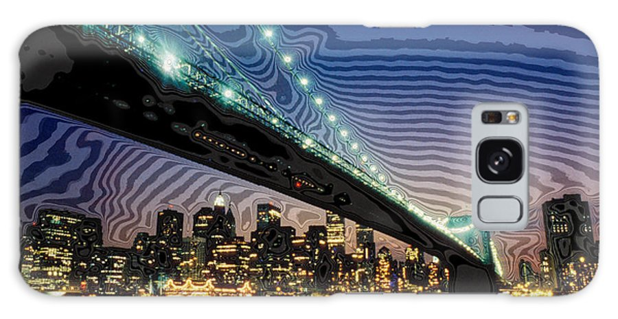 Bridge Galaxy S8 Case featuring the digital art Bridge Over Troubled Waters by Carl Purcell