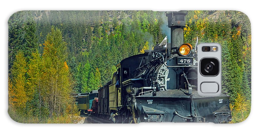 Steam Train Photographs Galaxy S8 Case featuring the photograph Bridge View by Ken Smith