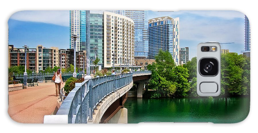Austin Galaxy Case featuring the photograph Bridge With A View by Zayne Diamond Photographic
