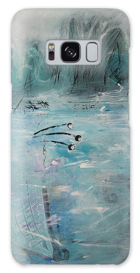 Abstract Paintings Galaxy S8 Case featuring the painting Brierly Beach by Seon-Jeong Kim