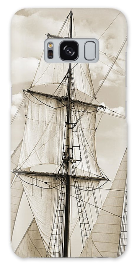 Brigantine Galaxy S8 Case featuring the photograph Brigantine Tallship Fritha Sails And Rigging by Dustin K Ryan