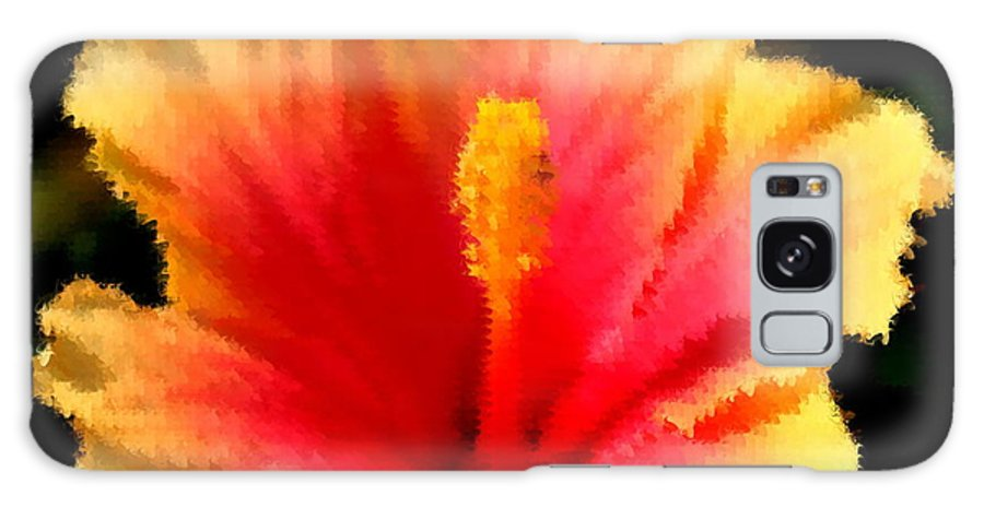 Hibiscus Galaxy S8 Case featuring the photograph Bright Hibiscus by Diane Merkle