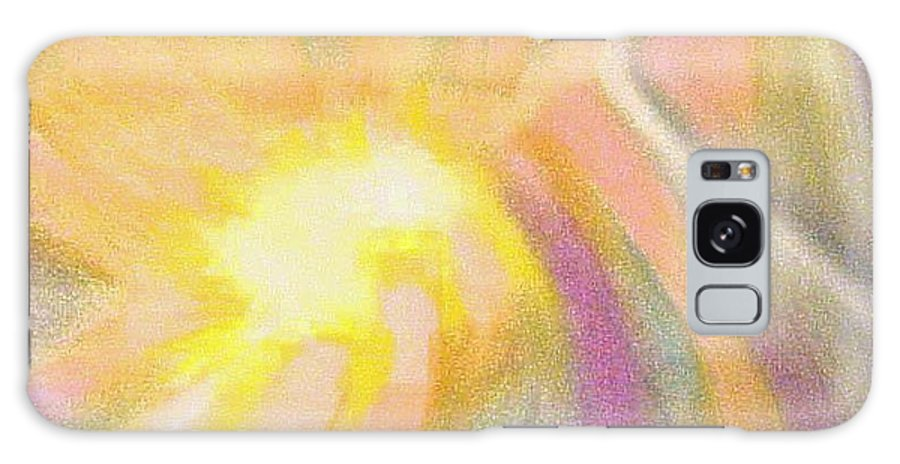 Pastel Drawing Colors Abstract Galaxy S8 Case featuring the drawing Bright Light Flight by Jan Gilmore
