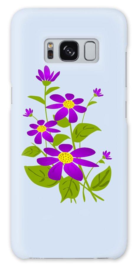 Plant Galaxy S8 Case featuring the digital art Bright Purple by Anastasiya Malakhova