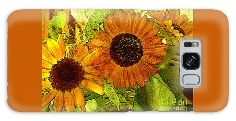 Sunflowers Galaxy S8 Case featuring the digital art Bright Regalia by RC DeWinter