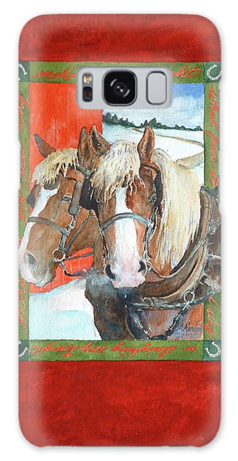Horses Galaxy S8 Case featuring the painting Bright Spirits by Christie Michelsen