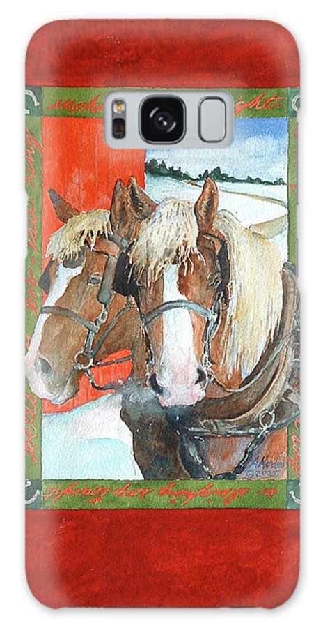 Horses Galaxy S8 Case featuring the painting Bright Spirits by Christie Martin