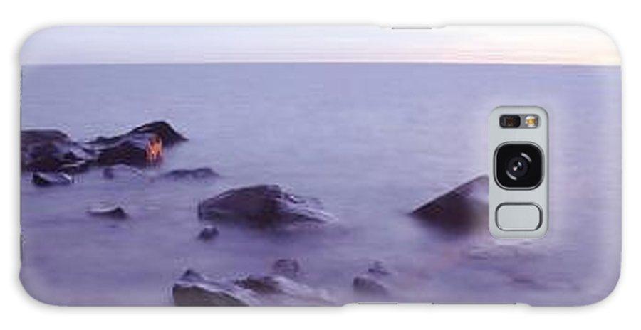 Brighton Beach Sunrise On Lake Superior Near Duluth Galaxy S8 Case featuring the photograph Brighton Beach Sunrise by Bill Morgenstern