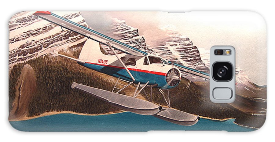 Aviation Galaxy Case featuring the painting Bringing Home The Groceries by Marc Stewart