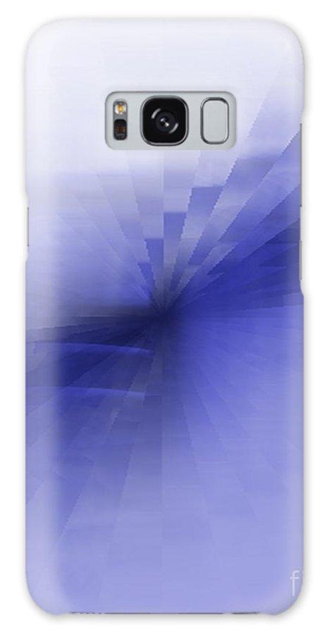 Blue Galaxy S8 Case featuring the painting Bris Bleu by Vicki Lynn Sodora
