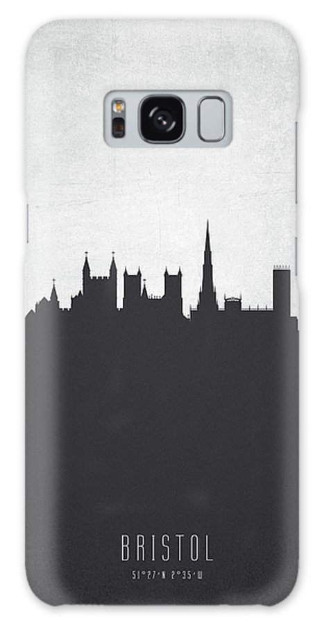 Bristol Galaxy S8 Case featuring the painting Bristol England Cityscape 19 by Aged Pixel