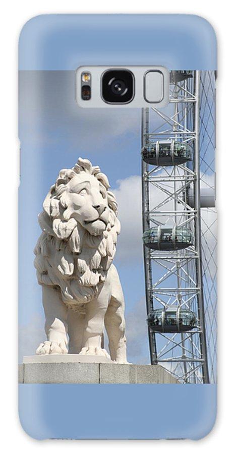 Lion Galaxy Case featuring the photograph Britannia Lion by Margie Wildblood