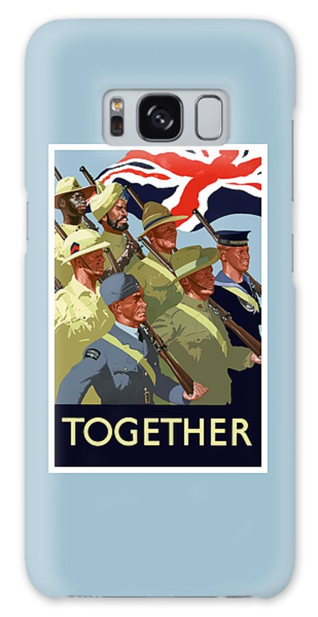 Union Flag Galaxy S8 Case featuring the painting British Empire Soldiers Together by War Is Hell Store