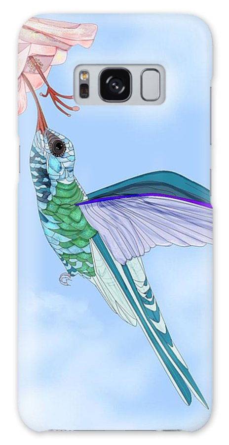 Hummingbird Galaxy S8 Case featuring the painting Broadbilled Hummer by Anne Norskog