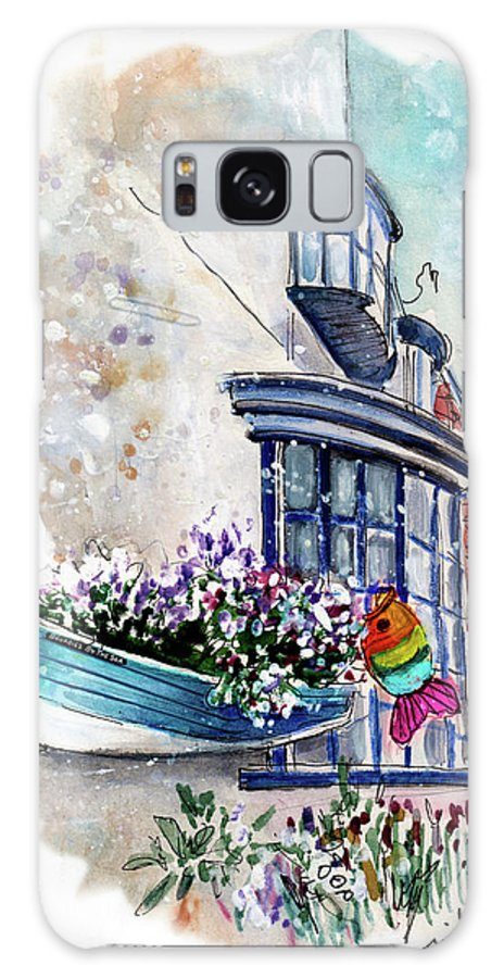 Travel Galaxy S8 Case featuring the painting Broadies By The Sea In Staithes by Miki De Goodaboom