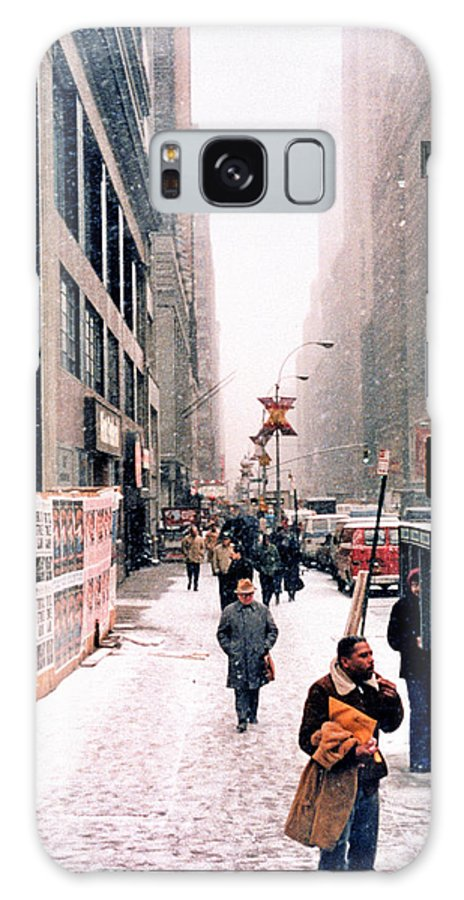 Broadway Galaxy S8 Case featuring the photograph Broadway And 42nd Street 1985 by Robert Meyers-Lussier