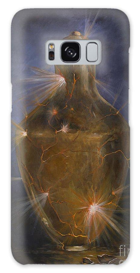 Golden Jar Galaxy S8 Case featuring the painting Broken Vessel by Deborah Smith