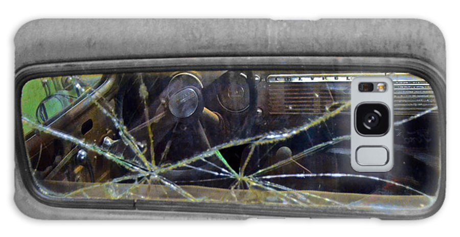 #american #auto Paint #automotive #broken Glass #broken Window #car Show #chevrolet #chevy #classic Cars #deluxe #hotrods #patina #pick-up Truck #rust #steering Wheel #vehicle Galaxy S8 Case featuring the photograph Broken Window Theory by Kyra Neeley