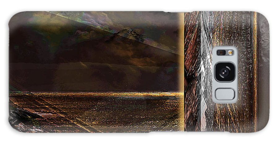Bronze Galaxy Case featuring the digital art Bronze And Leather Landscape by Ricardo Szekely