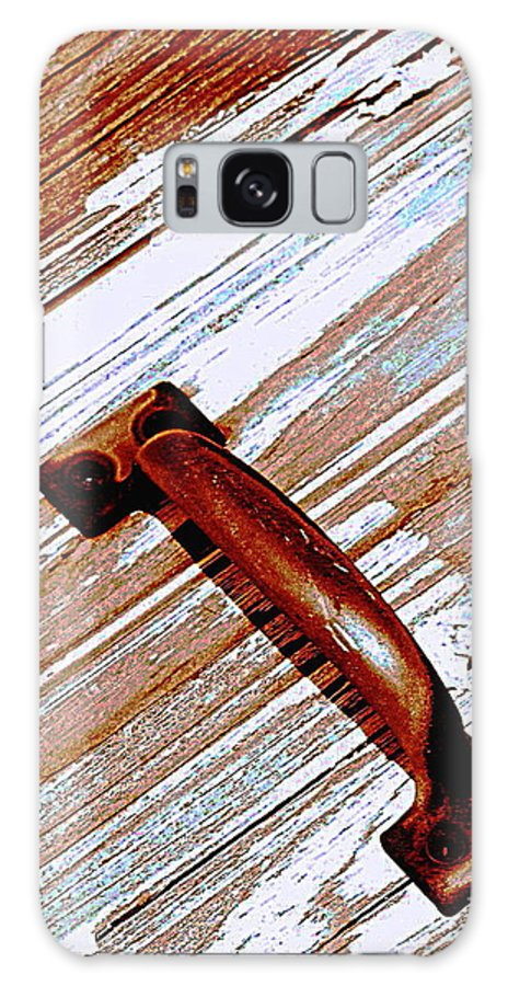Wood Galaxy S8 Case featuring the photograph Bronze Handle by Colleen Kammerer