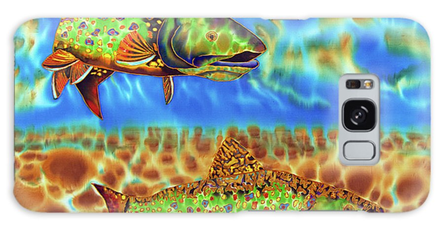 Brook Trout Galaxy Case featuring the painting Brook Trout by Daniel Jean-Baptiste