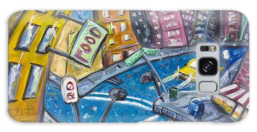 New York City Manhattan Brooklyn Galaxy S8 Case featuring the painting Brooklyn by Jason Gluskin