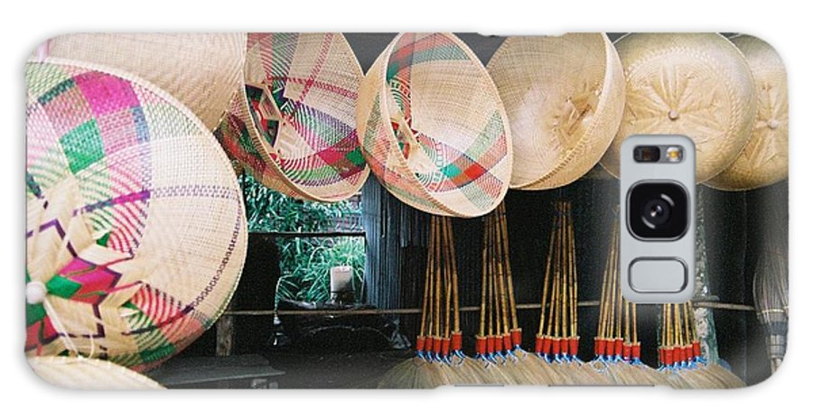 Baskets Galaxy Case featuring the photograph Brooms And Baskets by Mary Rogers