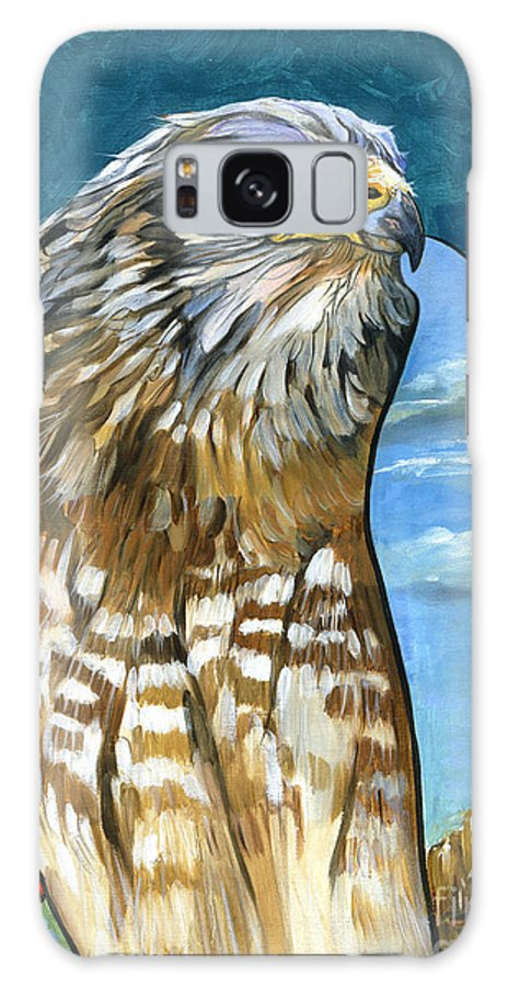 Hawk Galaxy S8 Case featuring the painting Brother Hawk by J W Baker