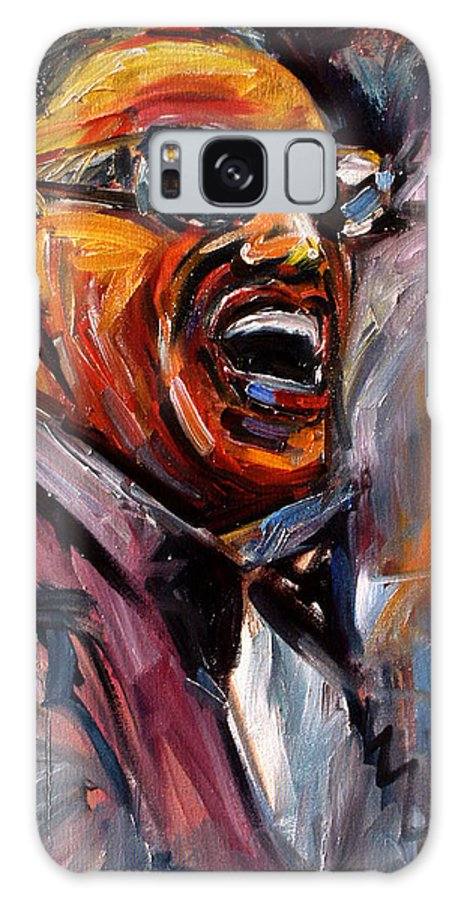 Jazz Art Galaxy S8 Case featuring the painting Brother Ray by Debra Hurd