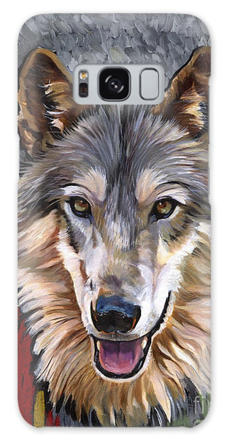 Wolf Galaxy Case featuring the painting Brother Wolf by J W Baker