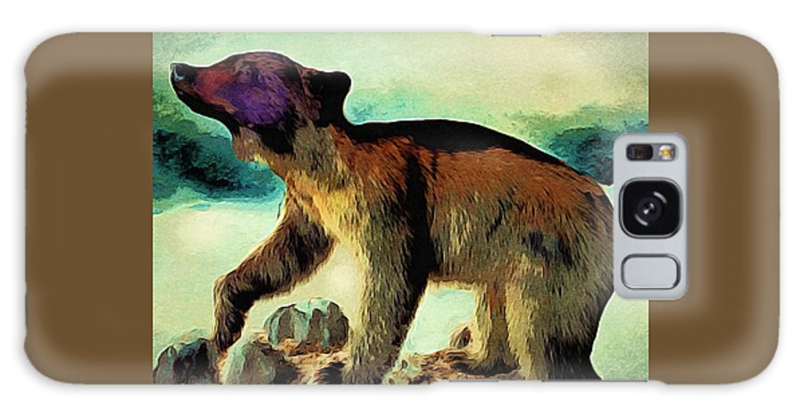 Brown Bear Galaxy S8 Case featuring the painting Brown Bear Pose by Anne Sands