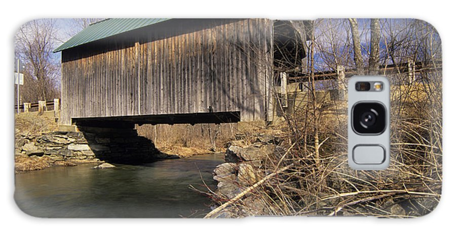 Bridge Galaxy S8 Case featuring the photograph Brownsville Covered Bridge - Brownsville Vermont by Erin Paul Donovan